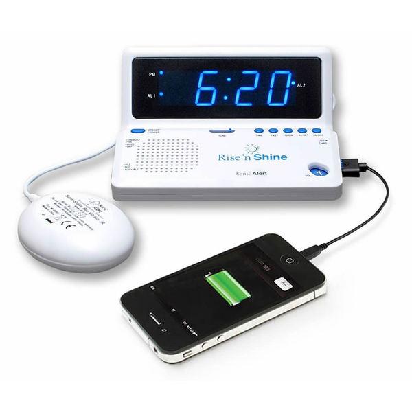 Sonic Alert Rise 'n Shine Alarm Clock with Super Shaker