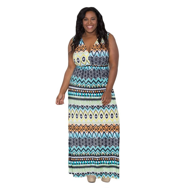 Sealed with a Kiss Women's Plus Size 'Alina' Maxi Dress