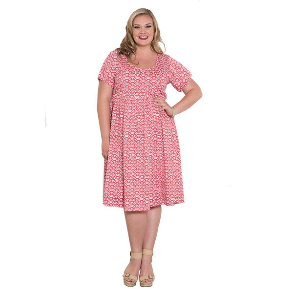Sealed with a Kiss Women's Plus Size 'Harriet' Short Sleeve Dress