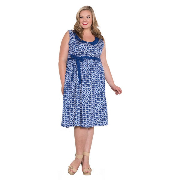 Sealed with a Kiss Women's Plus Size 'Lucillie' Collar Dress