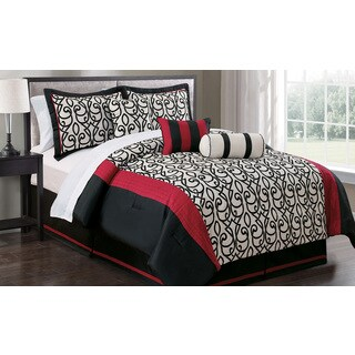 Phoebe Flocking 7-piece Comforter Set