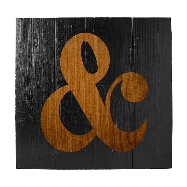 Rustic Ampersand Wooden Wall Art