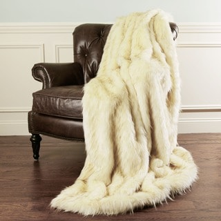 Aurora Home Iced Fox Faux Fur Throw Blanket by Wild Mannered