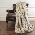 Aurora Home Bleached Finn Faux Fur Throw Blanket by Wild Mannered