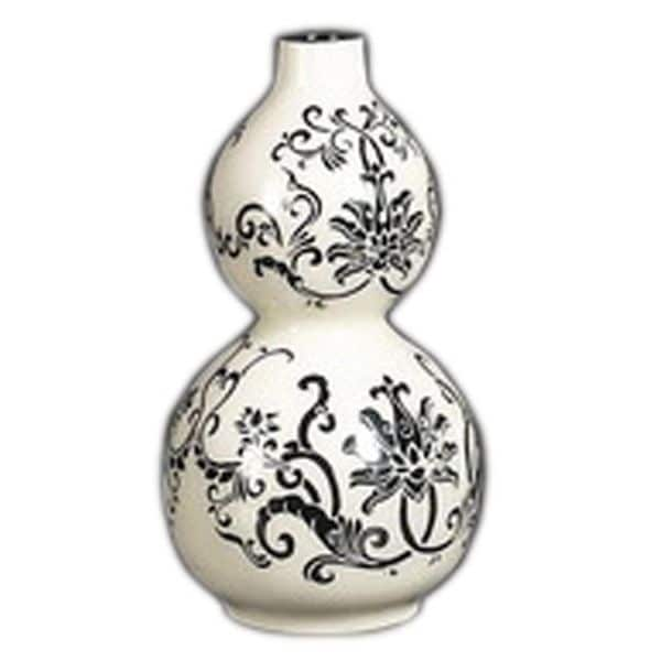 Homer Black and White Decorative Vase