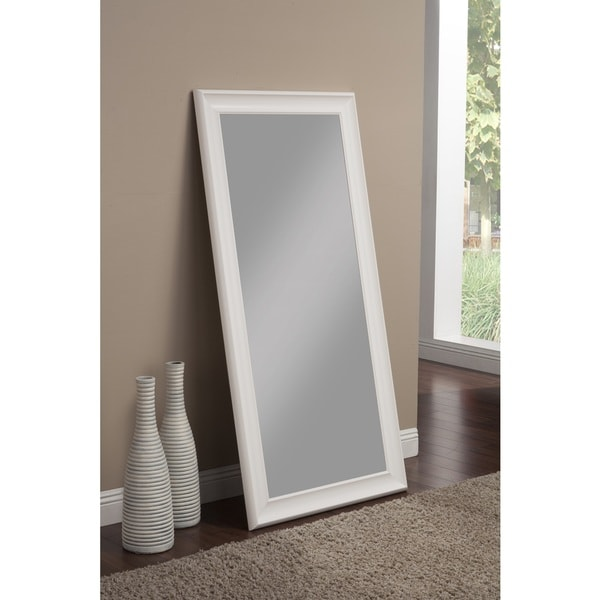 Sandberg furniture frost white full length leaner mirror for White full length wall mirror