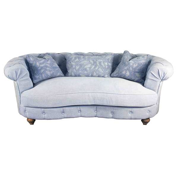 Blue Down 3 seater Sofa