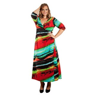 Sealed with a Kiss Women's Plus Size 'Caitlyn' Wrap Maxi Dress
