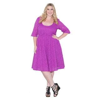 Sealed with a Kiss Women's Plus Size 'Harlow' Lace Dress