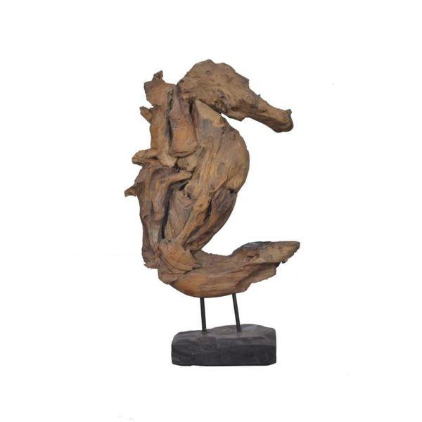 Belcher Wooden Seahorse Dcor