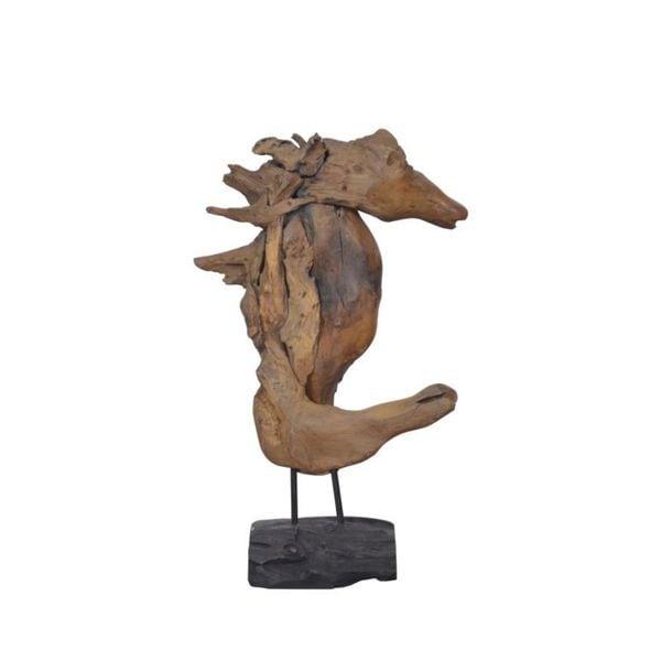 Bourg Wooden Seahorse Dcor