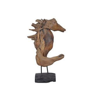Bourg Wooden Seahorse Décor