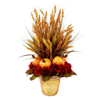 Pomegranate and Wheat Fall Floral Arrangement