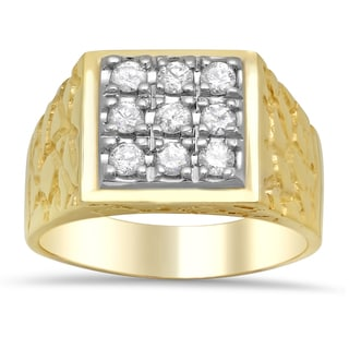 Artistry Collections 14k Two-tone Gold Men's 3/4ct TDW Diamond Ring (F-G, SI1-SI2)