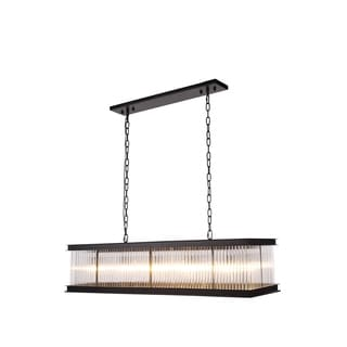 Elegant Lighting Royale Collection 1218 Pendant Lamp with Mocha Brown Finish