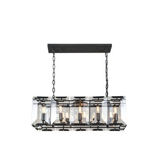 Elegant Lighting Monaco Collection 1212 Pendant Lamp with Flat Black Matte Finish