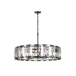 Elegant Lighting Monaco Collection 1211 Pendant Lamp with Flat Black Matte Finish
