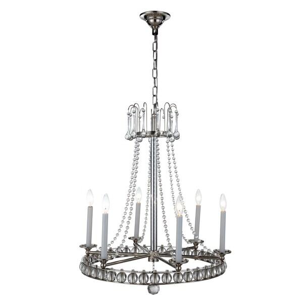 Leonardo Collection 1434 Pendant Lamp with Polished Nickel Finish