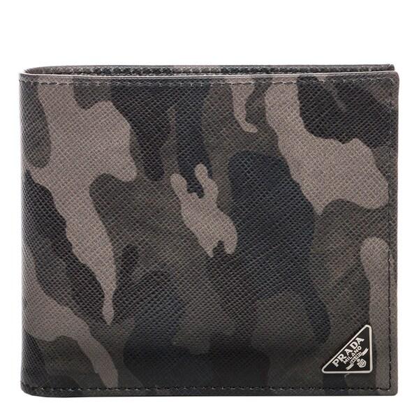 Prada Saffiano Camouflage Print Wallet