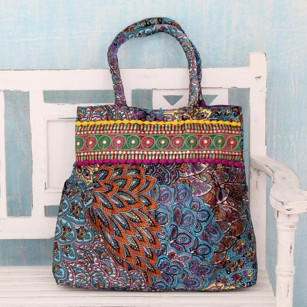 Handcrafted Embellished 'Gujarat Festival' Shoulder Bag (India)