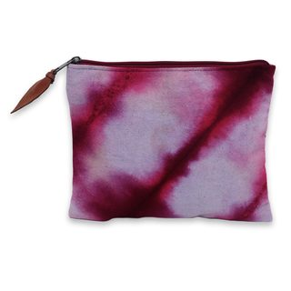 Hand-dyed Cotton 'Jogjakarta Passion' Clutch Handbag (Indonesia)