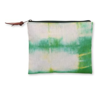 Hand-dyed Cotton 'Rawa Pening Shores' Clutch Handbag (Indonesia)