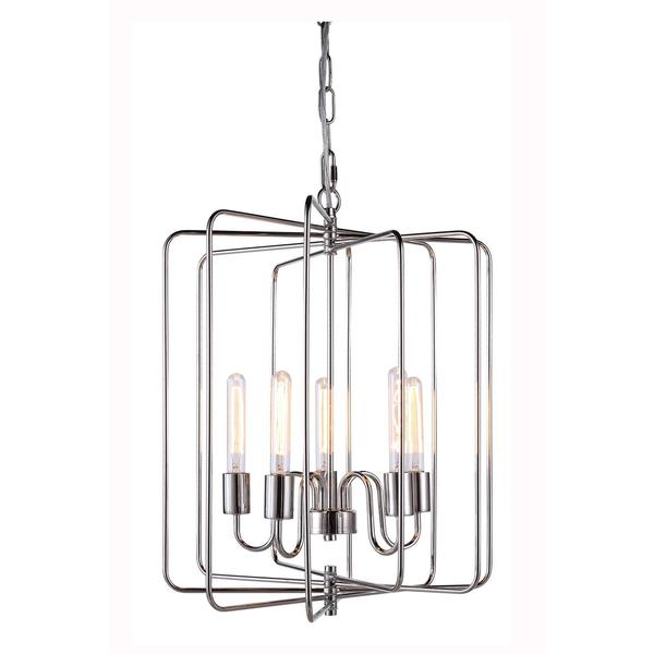 Lewis Collection 1454 Pendant lamp with Polished Nickel Finish
