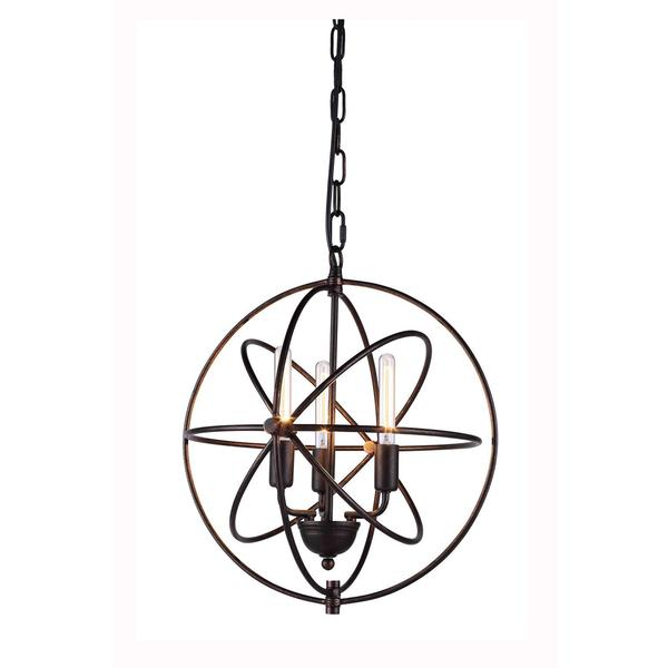 Vienna Collection 1453 Pendant lamp with Dark Bronze Finish