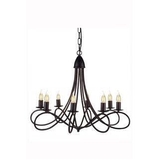 Elegant Lighting Lyndon Collection 1452 Pendant lamp with Dark Bronze Finish