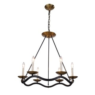 Perry Collection 1419 Pendant lamp with Bronze & Burnished Brass Finish