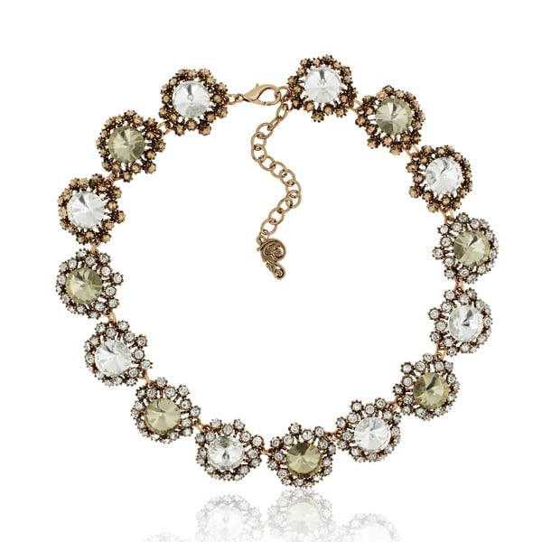 Passiana Floral Crystal Collar Necklace