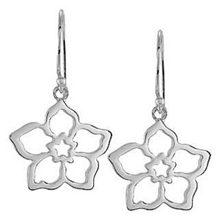 Sterling Silver Forget Me Not Flower Earrings
