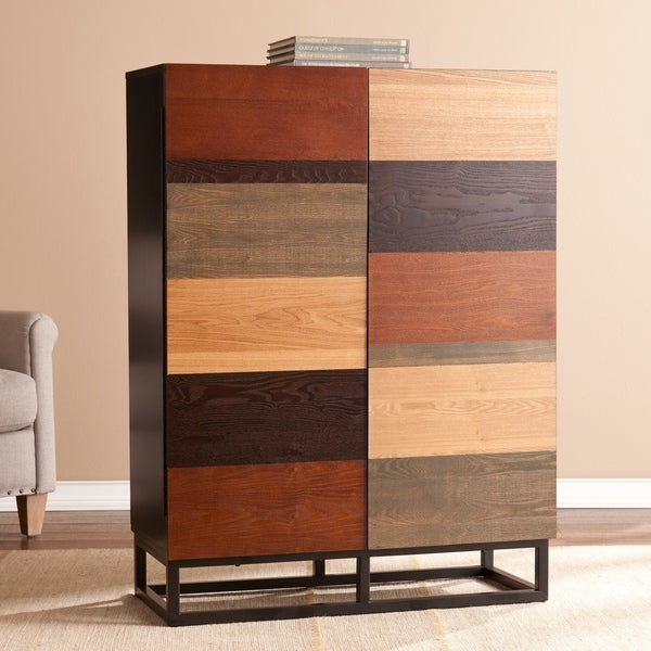 Upton Home Hollis Multi-Tonal Bar Cabinet