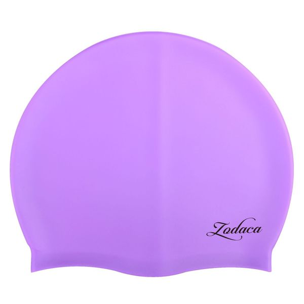 Zodaca Silicone Elastic Flexible Durable New Swimming Hat Comfortable Swim Cap For Kids Child Boy Girl