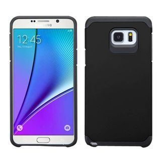 Insten Hard PC/ Silicone Dual Layer Hybrid Rubberized Matte Phone Case Cover For Samsung Galaxy Note 5