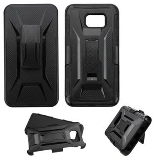 Insten Hard PC/ Silicone Dual Layer Hybrid Phone Case Cover with Holster For Samsung Galaxy Note 5