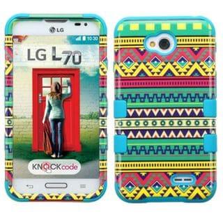 Insten Tribal Sun Hard PC/ Silicone Hybrid Phone Case Cover For LG Optimus Exceed 2 VS450PP Verizon/ Optimus L70/ Ultimate 2