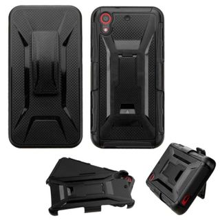Insten Hard PC/ Silicone Dual Layer Hybrid Phone Case Cover with Holster For HTC Desire 626/ 626s