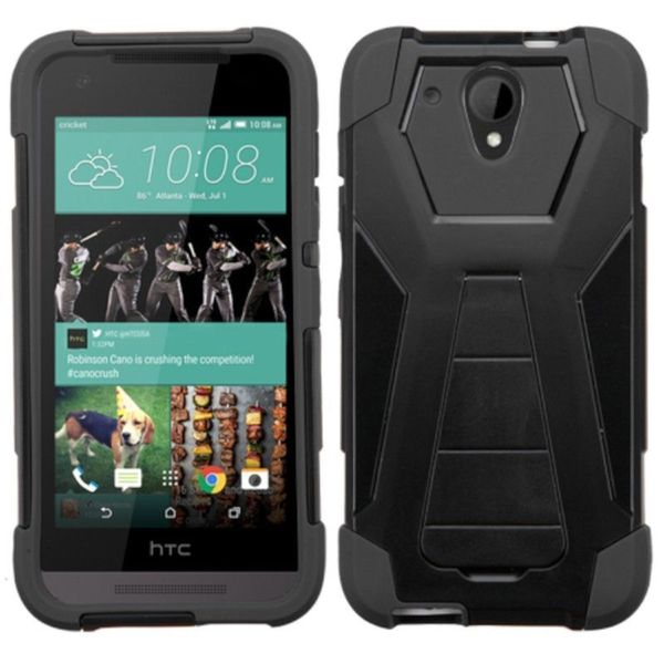 Insten Hard PC/ Silicone Dual Layer Hybrid Phone Case Cover with Stand For HTC Desire 520