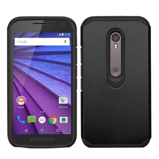 Insten Hard PC/ Silicone Dual Layer Hybrid Rubberized Matte Phone Case Cover For Motorola Moto G 3rd Gen
