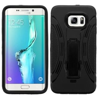 Insten Symbiosis Soft Silicone/ PC Dual Layer Hybrid Rubber Phone Case Cover with Stand For Samsung Galaxy S6 Edge Plus