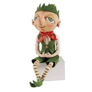 Bartholomew Elf Joe Spencer Gathered Traditions Art Doll - Green - 12 x 5 x 5