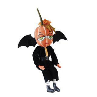 """Bert"" Pumpkin Bat Figure"