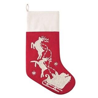 Santa Sleigh Stocking