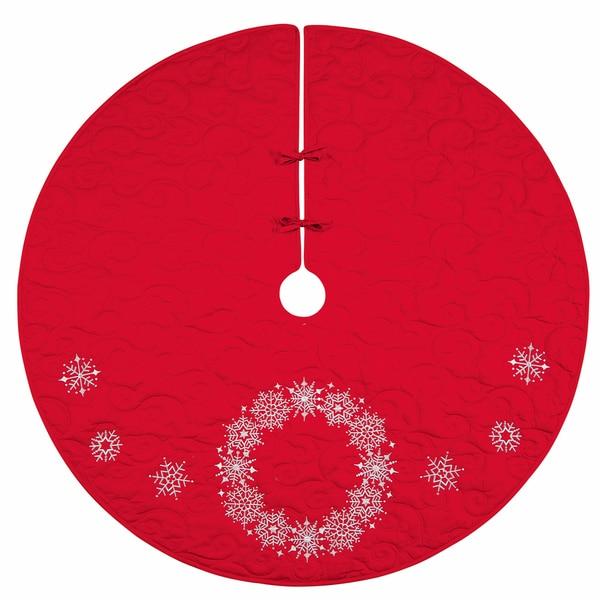 """Snowflake Wreath 54"""" Tree Skirt"""