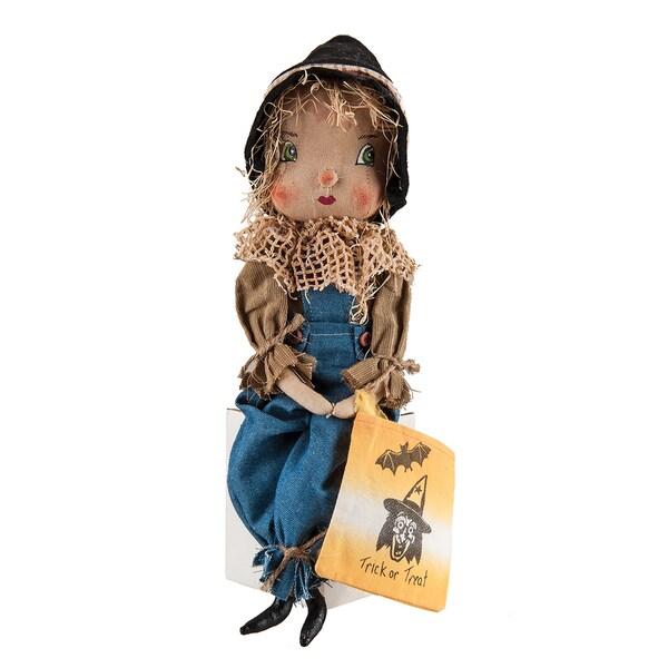 """Willis"" Scarecrow Boy Figure"