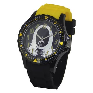 Steve Aoki Round Face Black Quartz Analog Watch