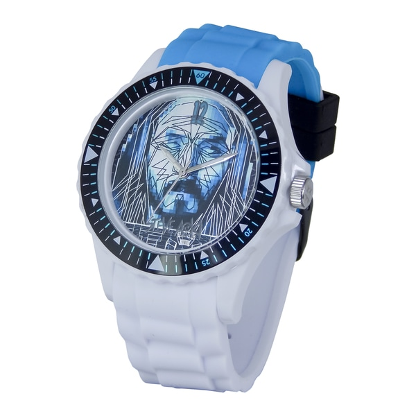 Steve Aoki Round Face Black Rage the Night Away Quartz Analog Watch