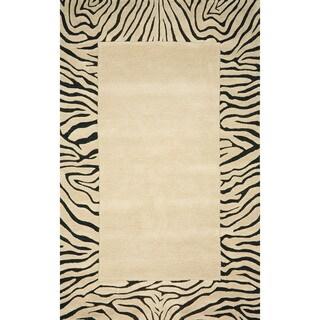 Zebra Border Indoor Rug (9' x 12')