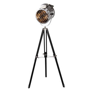 Ansel Tripod Floor Lamp with Chrome & Black Finish